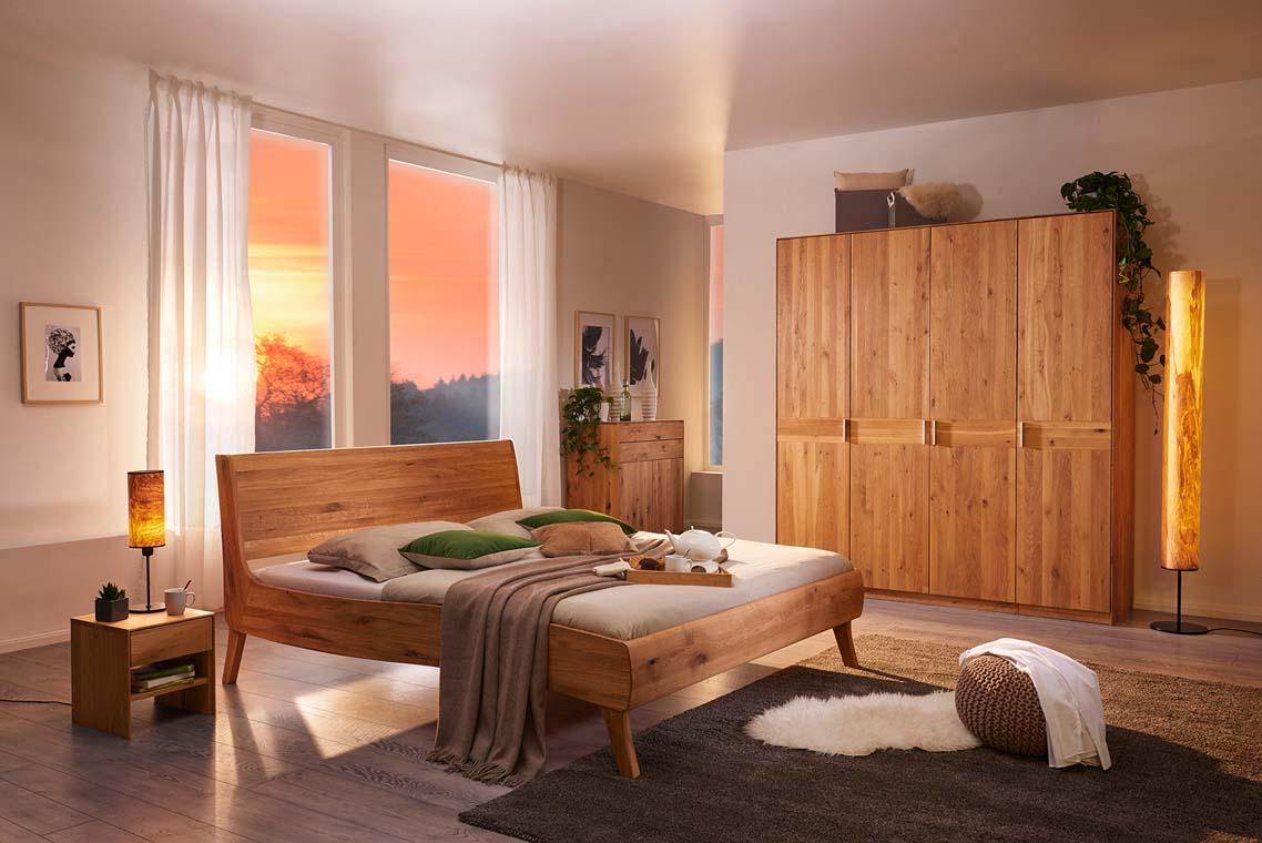 Massivholzbett-Zirbenholzbett-Bolero