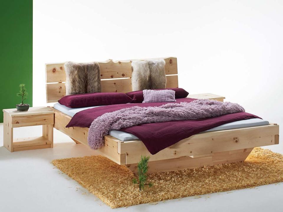 Balkenbett Urkraft, ein durchaus massives Bett