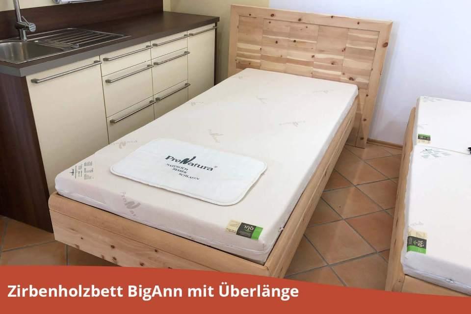 Zirbenbett Big Ann Abverkauf mit Schlafsystem