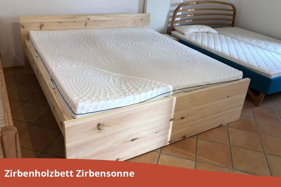 Zirbenholzbett-Zirbensonne-Zirbe
