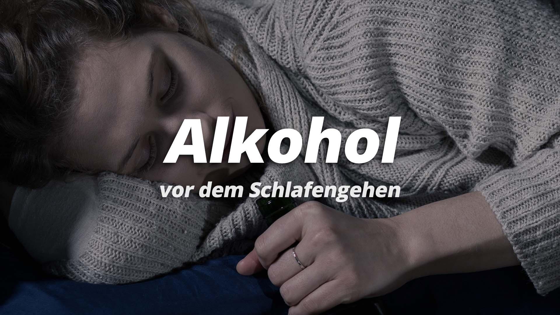 Alkohol vor dem schlafengehen