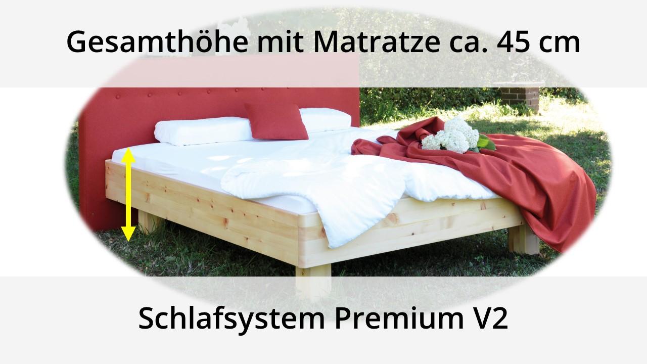 Gesamthöhe Bett mit Matratze