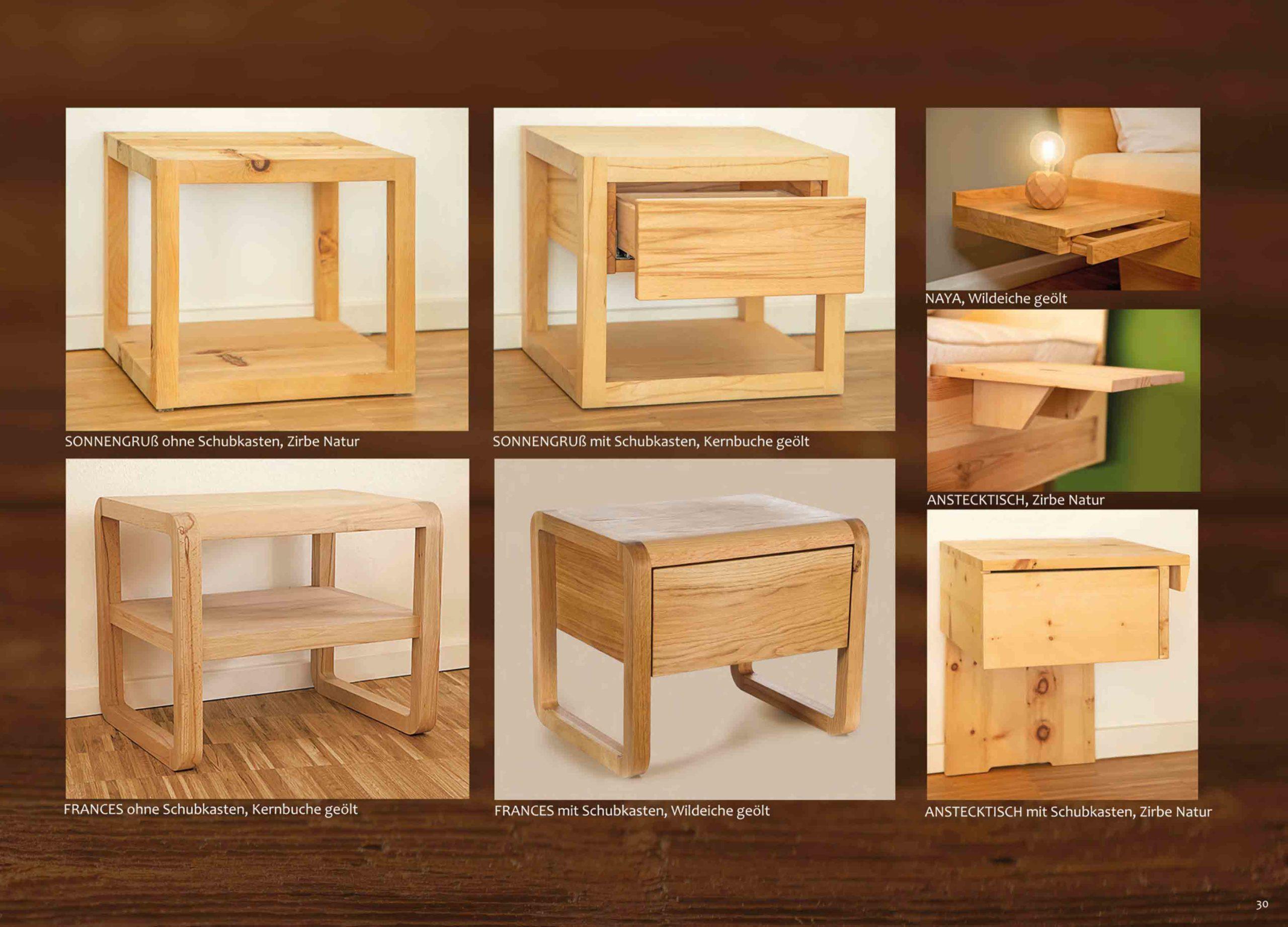 Hochwertige Massivholz Nachttische für jedes Bett
