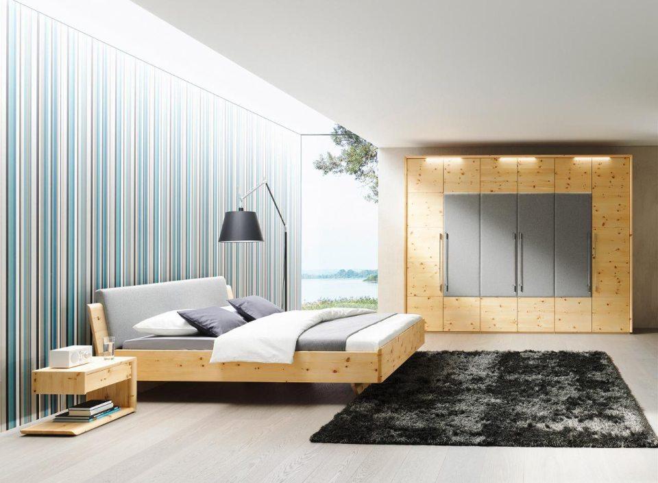 Zirbenholz Schlafzimmer Tesso von Anrei