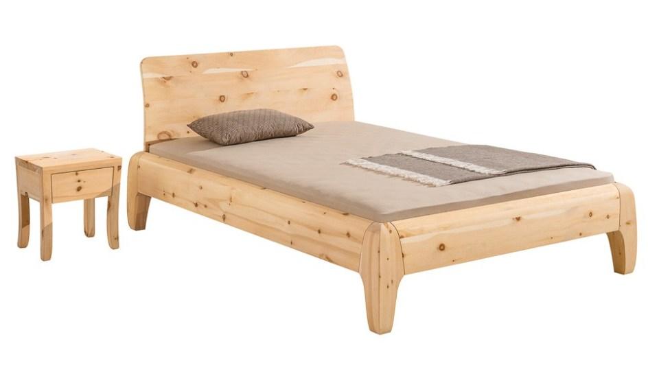 Designerbett aus Zirbenholz